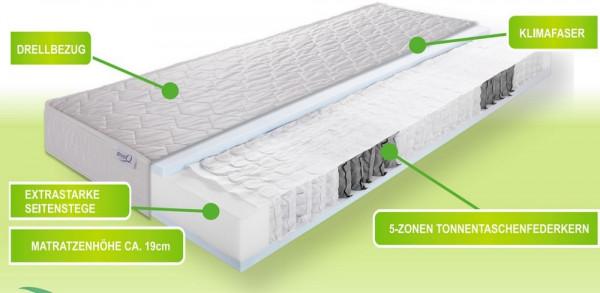 Allmed Spring H2-Tonnentaschenfederkernmatratze-21040082-1