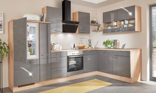 Flash - Granat - Hampton-Einbauküche-28244-1